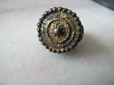 Antique Byzantine Silver Gold Plated Ring