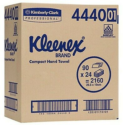 KLEENEX 4440 COMPACT HAND TOWEL 24 packs x 90
