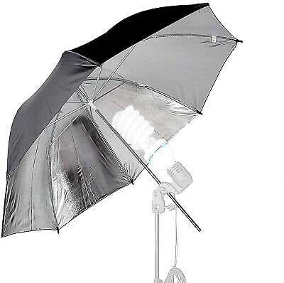 Photoflex Umbrella - Hot Silver with Black Backing - 41 inches in diameter.