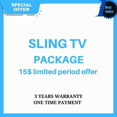 SlingTV | Orange Blue + 4 Extra | Lifetime Warranty