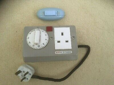 Vintage Morphy Richards Plug in Socket with delay timer & Dreamland cable connec