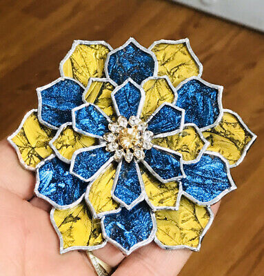 Van Gogh Stained Glass Succulent Flower Ornament Decoration By LaHeir
