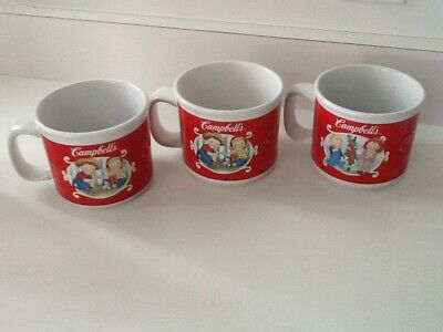 (3)CAMPBELL SOUP CUP MUGSCampbell's 2002 HOUSTON HARVEST