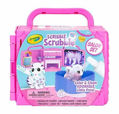 Crayola Scribble Scrubbie Pets, Beauty Salon Playset with Toy Pets, Gift for