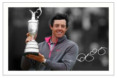 RORY McILROY GOLF SIGNED AUTOGRAPH PHOTO THE OPEN 2014 WINNER