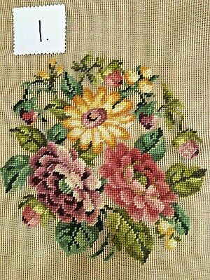 Lady Holding Floral Garland Bucilla Preworked Needlepoint Canvas
