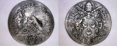 ND(16)94-IIII Italian States Papal States Giulio World Silver Coin -Innocent XII