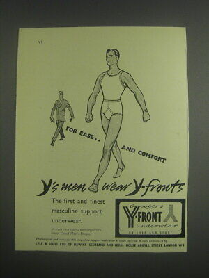 1953 Lyle and Scott Coopers Y-Front Underwear Advertisement