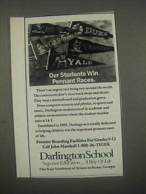 1991 Darlington School Ad - Our students win pennant races