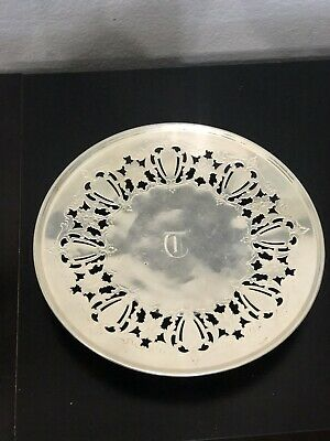 SHEFFIELD Silver over Nickel RETICULATEDPLATE 0332 with Old English T in Center