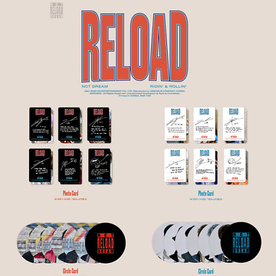 NCT DREAM RELOAD 4th Mini Official [PHOTO CARD / FOLDED POSTER / CIRCLE CARD]