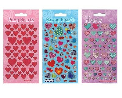 Heart Stickers Set  211 Assorted Love Hearts Arts and Crafts 3 Packs as Pictured