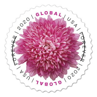 USPS New Chrysanthemum Pane of 10