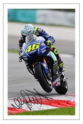 Valentino Rossi Signed Autograph Photo Print Moto Gp