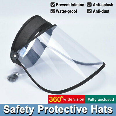 Splash Face Saliva-proof UV Safety Cap Full Face Protective Shield Clear Sun Hat