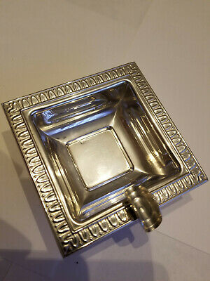 New - Solid Stertling Silver Italian Ashtray Ash Tray **CLEARANCE**