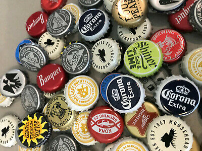 Lot of 50 USED Beer Bottle Caps Microbrew Domestics Import Craft Free Shipping