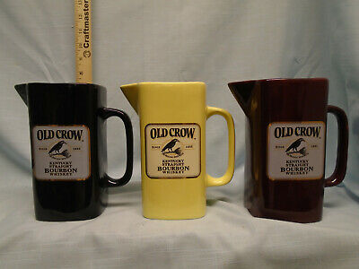 Old Crow / Wade set of 3 water pitchers