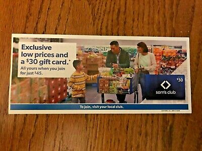 Sam's Club Coupon - $30 Gift Card With New Membership In Store ONLY exp 5/31/20