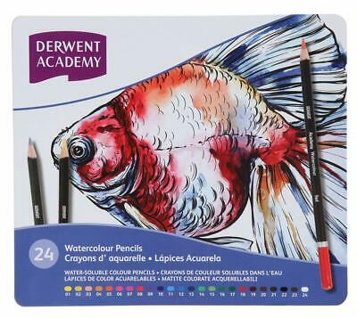 Derwent 2301942 Academy Watercolour Colouring Pencils, Set of 24, High Quality,