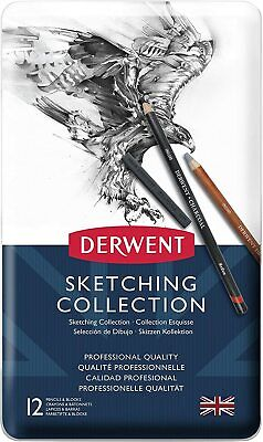 Derwent Sketching Pencils and Blocks with Accessories, Set of 12, Professional Q