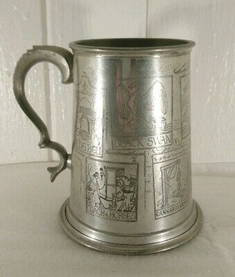 Vintage British English Pub Names Themed Pewter Tankard. Unusual. Great Gift.