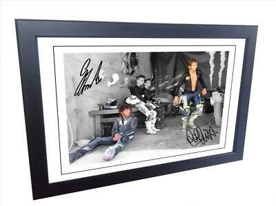 Signed Guy Martin - Valentino Rossi Autographed Photograph Photo Picture Frame