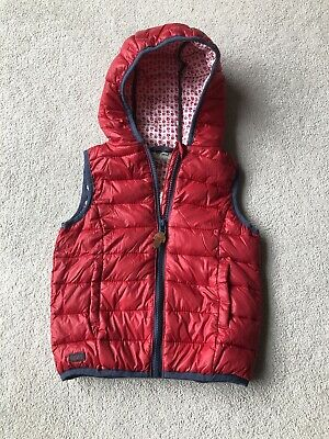 Next Girls Puffer Padded Hooded Gillet Age 3 Years