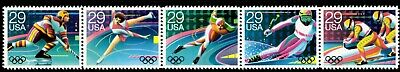 Winter Olympics - Scott #2611-2615  Strip of 5 Stamps MNH