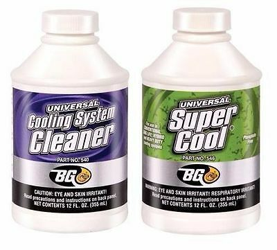 BG Products COOLING RADIATOR CLEANER & SUPER COOL KIT CLEANS PROTECTS ANTIFREEZE