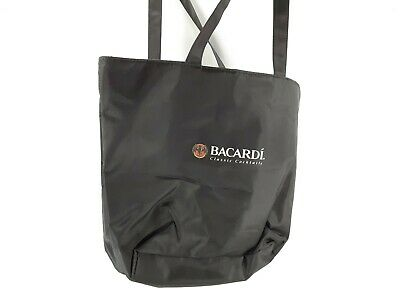 Bacardi Classic Cocktails Black Shoulder Canvas Beach Bag Pre-owned