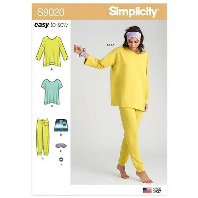 Simplicity Sewing Pattern 9020 Misses 4-26 Knit Tops Pants, Shorts & Accessories