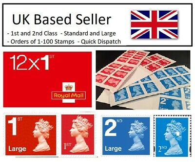 BRAND NEW ROYAL MAIL POSTAGE STAMPS - 1st/2nd Class - Standard/Large available