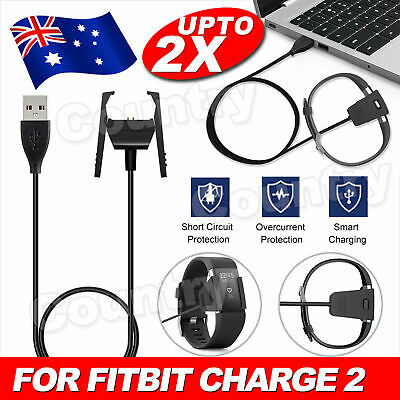 USB Charger Charging Cable For Fitbit Charge 2 Wristband Smart Fitness Watch AU