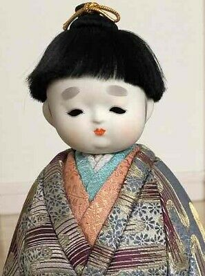 Kimekomi Hina Ningyo Sawarabi Tachibina Japan Wooden doll Traditional craft 27cm