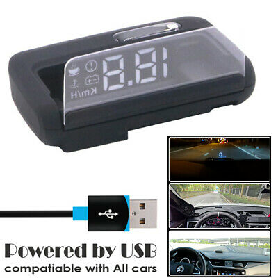 Car Speedometer HUD GPS Head-Up Display Projector Distance/Time/Voltage Warning