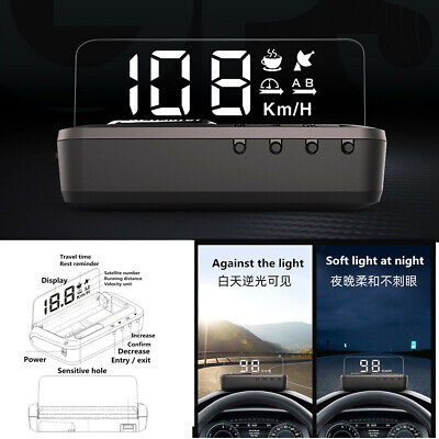 GPS HUD Head-Up Display Mirror Smart Car Speedometer Projector Real-time Monitor