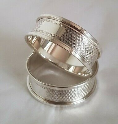 Antique sterling silver napkin ring. Birmingham 1967 .By W I Broadway & Co