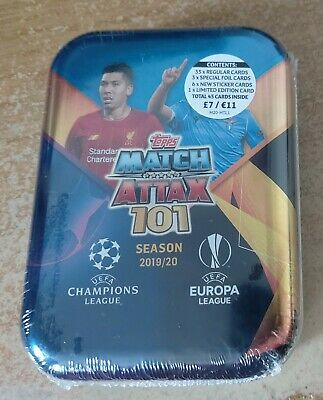 Match Attax 101 2020 Mini Tin A with Lionel Messi Limited Edition card