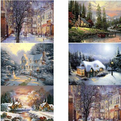 Landscapes Painting By Numbers Kit Includes Paints / Brush / Board Snow Fall