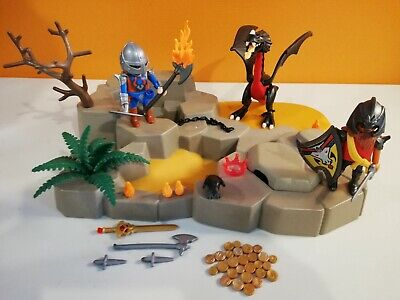 chevaux  playmobil chevalier ,  armure , chateau 2287 sympa  selle cheval