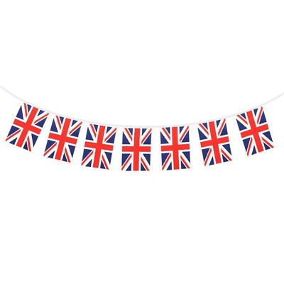 9x6 Union Jack 10 Flag Bunting VE Day 75th Anniversay BBQ Great Britain