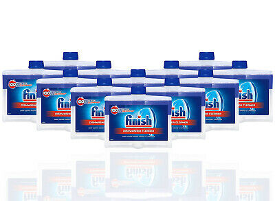 12 Pack Finish Dishwasher Cleaner Dual Action Fight Grease & Limescale 8.45 oz