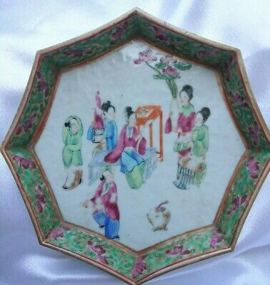 Exquisite Qing Dynasty Antique Chinese Famille Rose Porcelain Plate