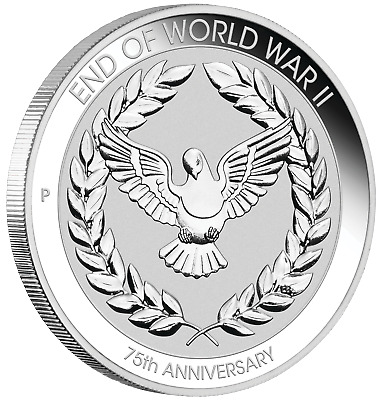 PROOF 2020 Australia END OF WORLD WAR II 75th ANNIV. 1/10 oz 10c SILVER COIN