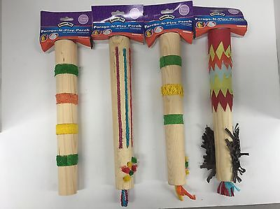 Super Pet Bird Forage N Play Perch For Large Birds Lot of 4 (New)