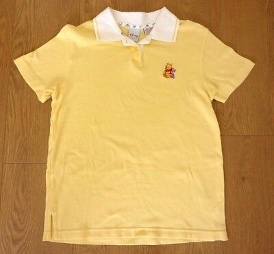 Disney Winnie the Pooh Ladies Yellow Polo Shirt Size Small Chest 36 in.