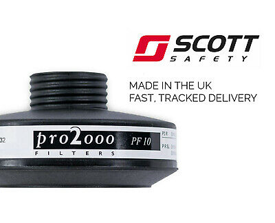 Scott Pro 2000 PF10 P3 Filter 40mm / RD40 Thread Bio Protection Expiry 2030