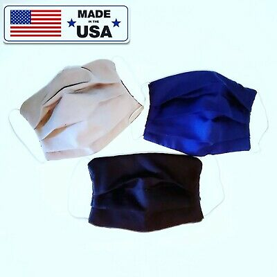 100% Reusable Washable Cotton Face Mask Filter Pocket + Nose Wire