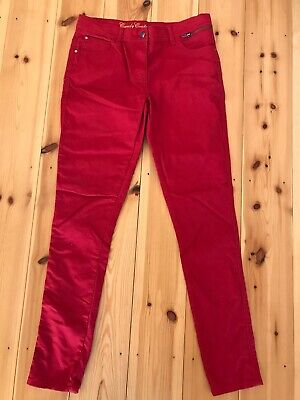 NEW - Candy Couture Girls Slim Leg Trousers - Brilliant Red - Age 16 Years